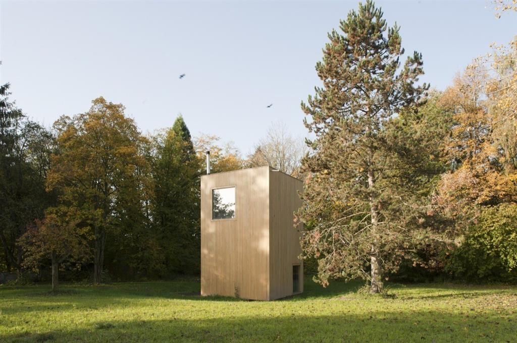 Winding Project is the name of the project with5,5m x 5,5m cabins in Windding Park andLVPHthe authors.