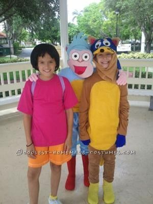 Coolest Dora the Explorer, Boots, and Swiper Costumes