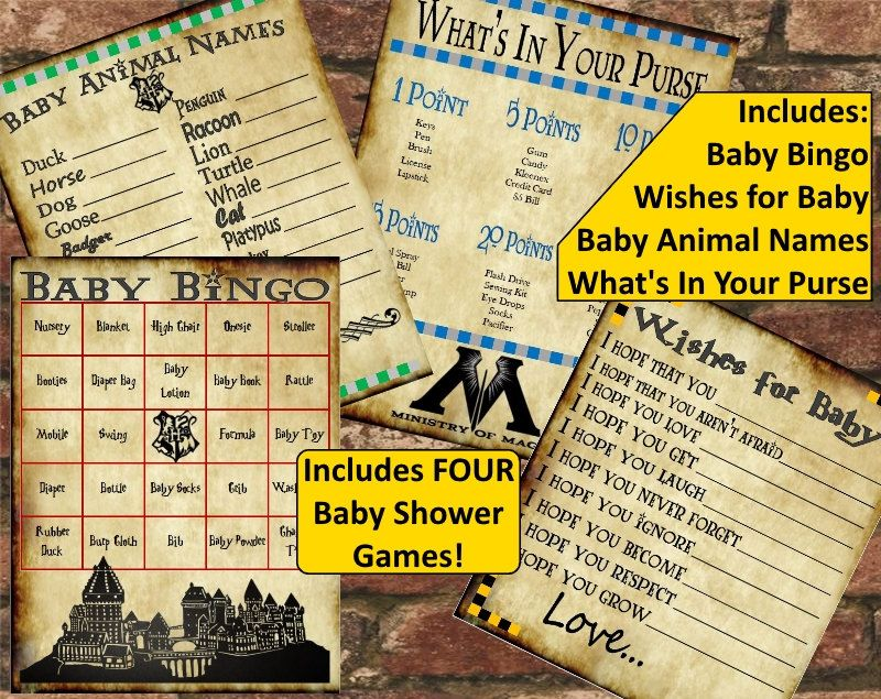 Captivating Harry Potter Baby Shower Game Pack By FranklinStationary On Etsy | Projects  | Pinterest | Harry Potter Baby Shower, Baby Shower Games And Harry Potter