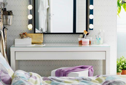 ikea schminktische und frisiertische wie z b malm frisiertisch in wei malm pinterest. Black Bedroom Furniture Sets. Home Design Ideas