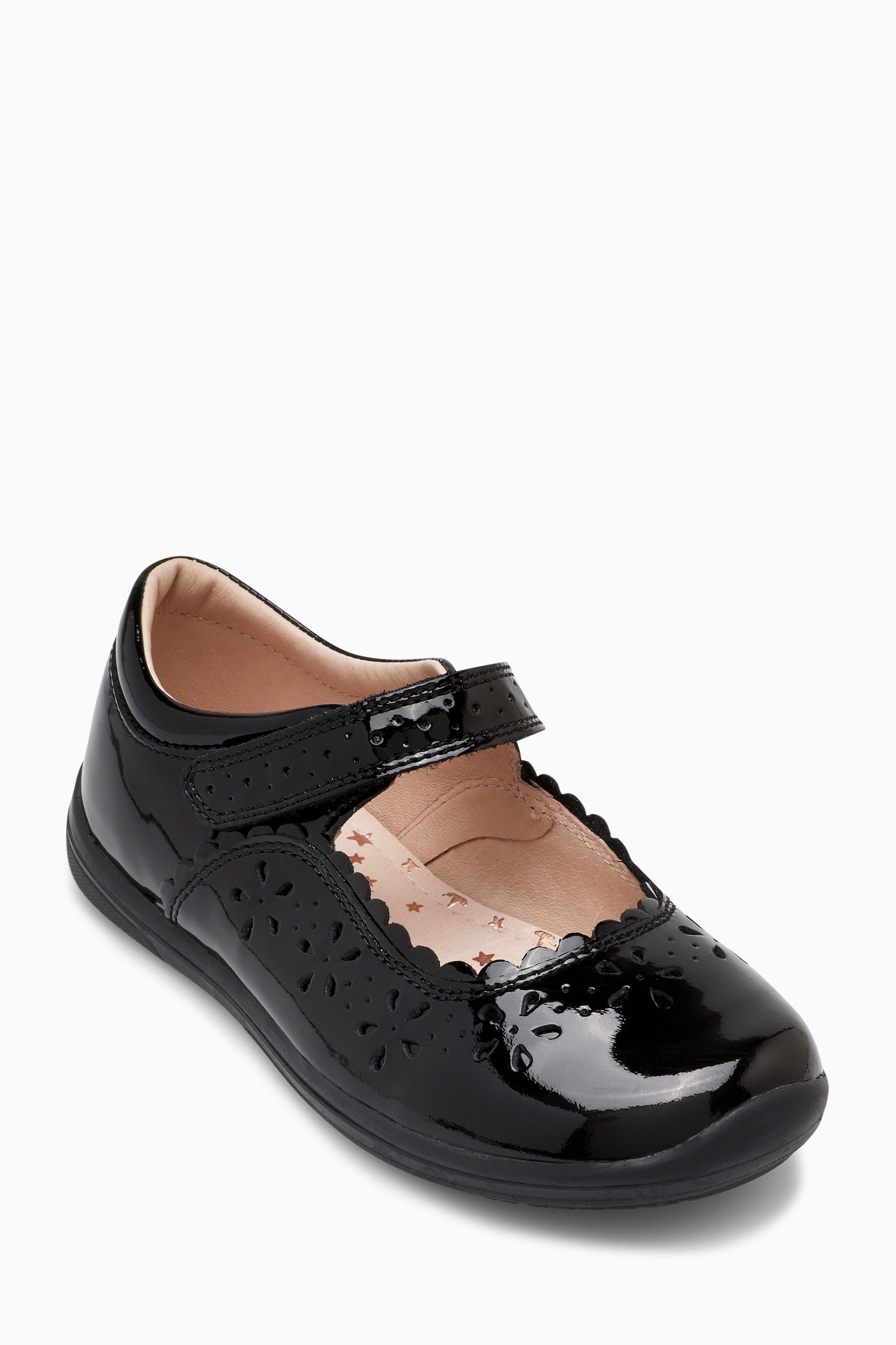 6421331130a80 Girls Next Black Patent Cut-Out Mary Jane Shoes (Older) - Black ...