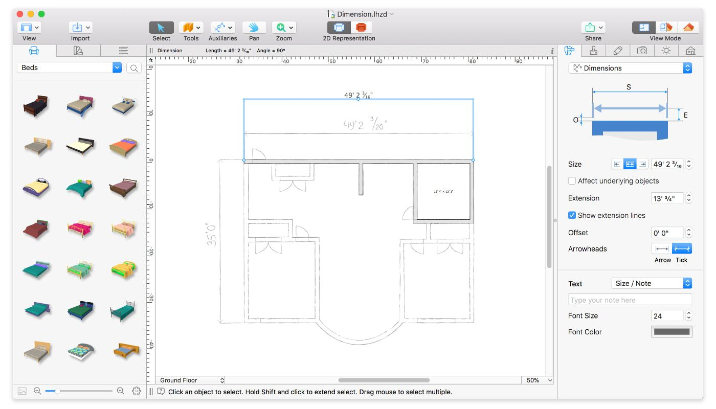 How to turn a blueprint into a floorplan in Live Home 3D