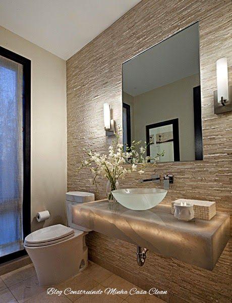 55 lavabos de luxo pequenos e sofisticados lavabos for Modelos de comedores pequenos