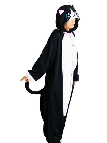 Pleuche Kigurumi Costume Vivid Black Cat   Mode   Onesies ...