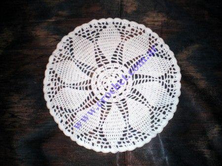 Paño redondo en tejido crochet | Knit & Crochet | Pinterest | Paños ...