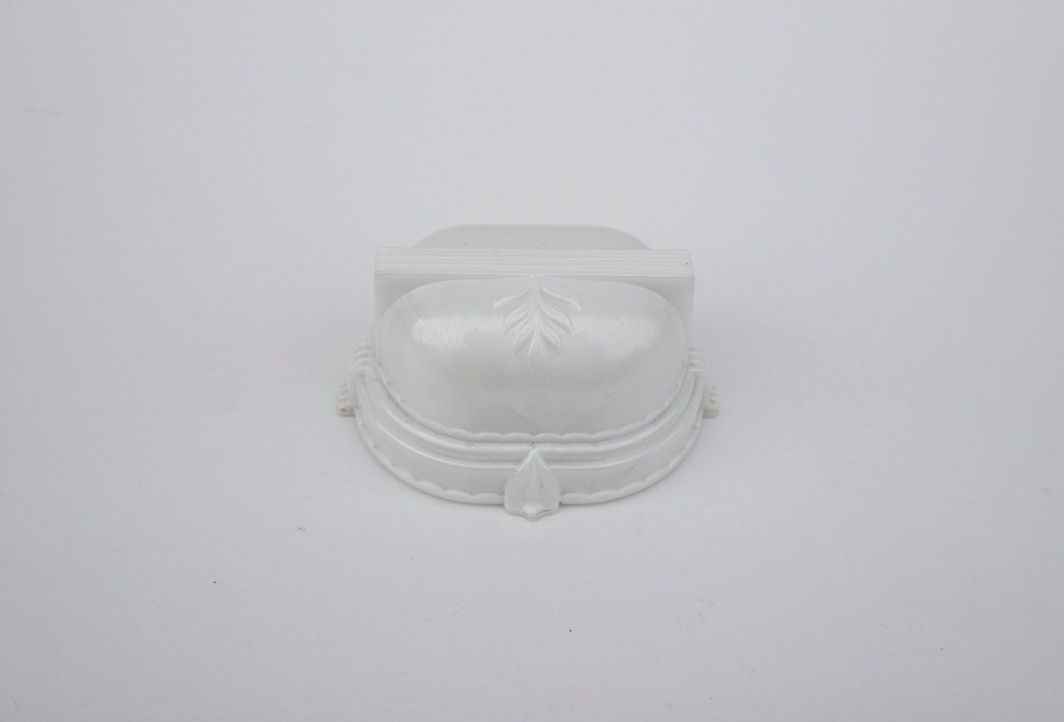 Vintage SUC Ring Box Celluloid White Presentation Box Made in USA Pearly Finish…
