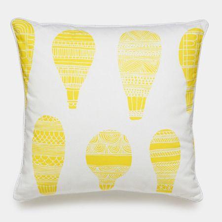 Float Yellow Balloon Throw Pillows   Modern Accent Pillows   Unison