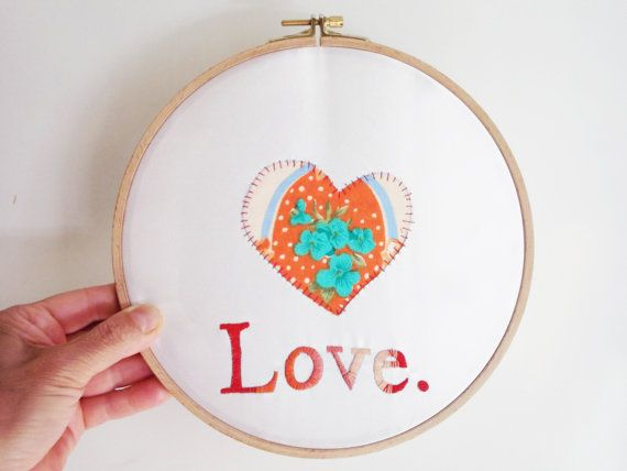 Love and Heart - Embriodery Hoop