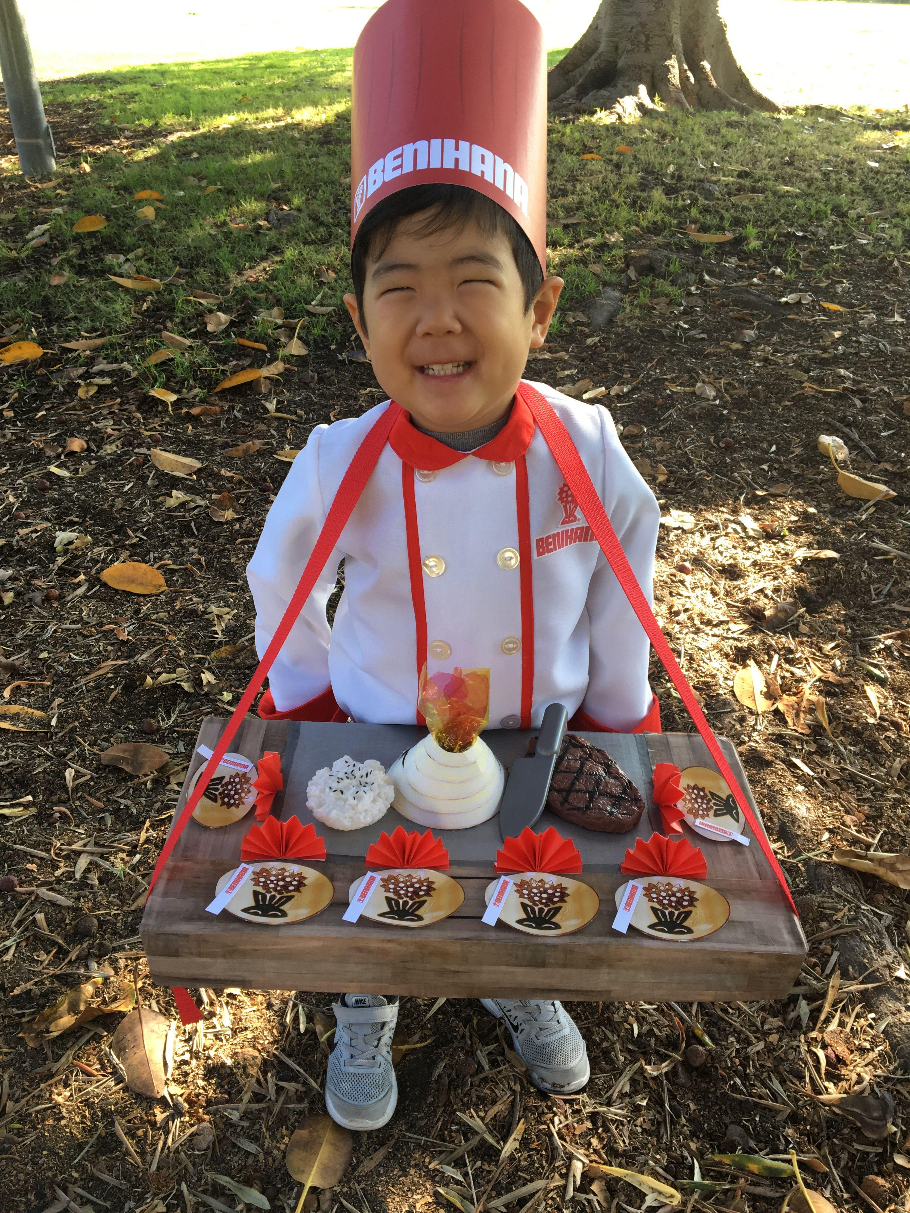 DIY Benihana chef costume toddler kid hibachi grill | kids halloween