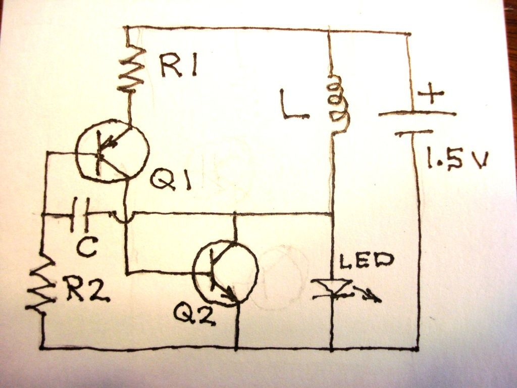 joule thief no ic and no transformer 4 steps  [ 1024 x 768 Pixel ]