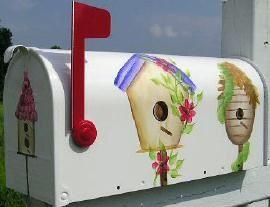 Bird House Decorating Ideas Hand Painted Birdhouse