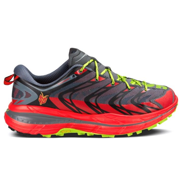 Hoka One One Speedgoat Running Shoe - Men's Bright Red/Black Tackle those  technical trails with animal-like agility in the Hoka One One Speedgoat ...