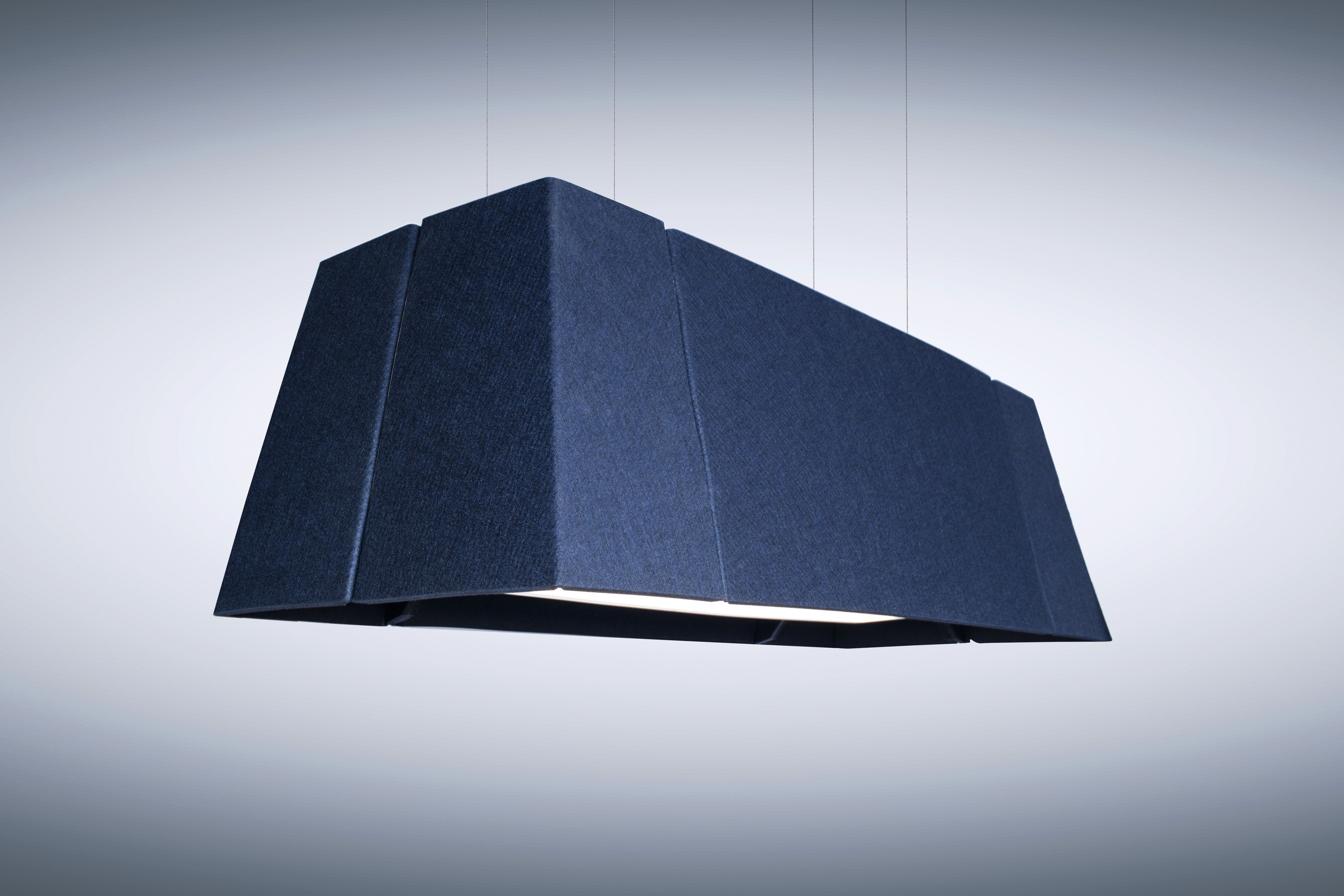 Acoustic Light Fixtures : Thinklab by luxxbox vapor rectilinear acoustic lighting