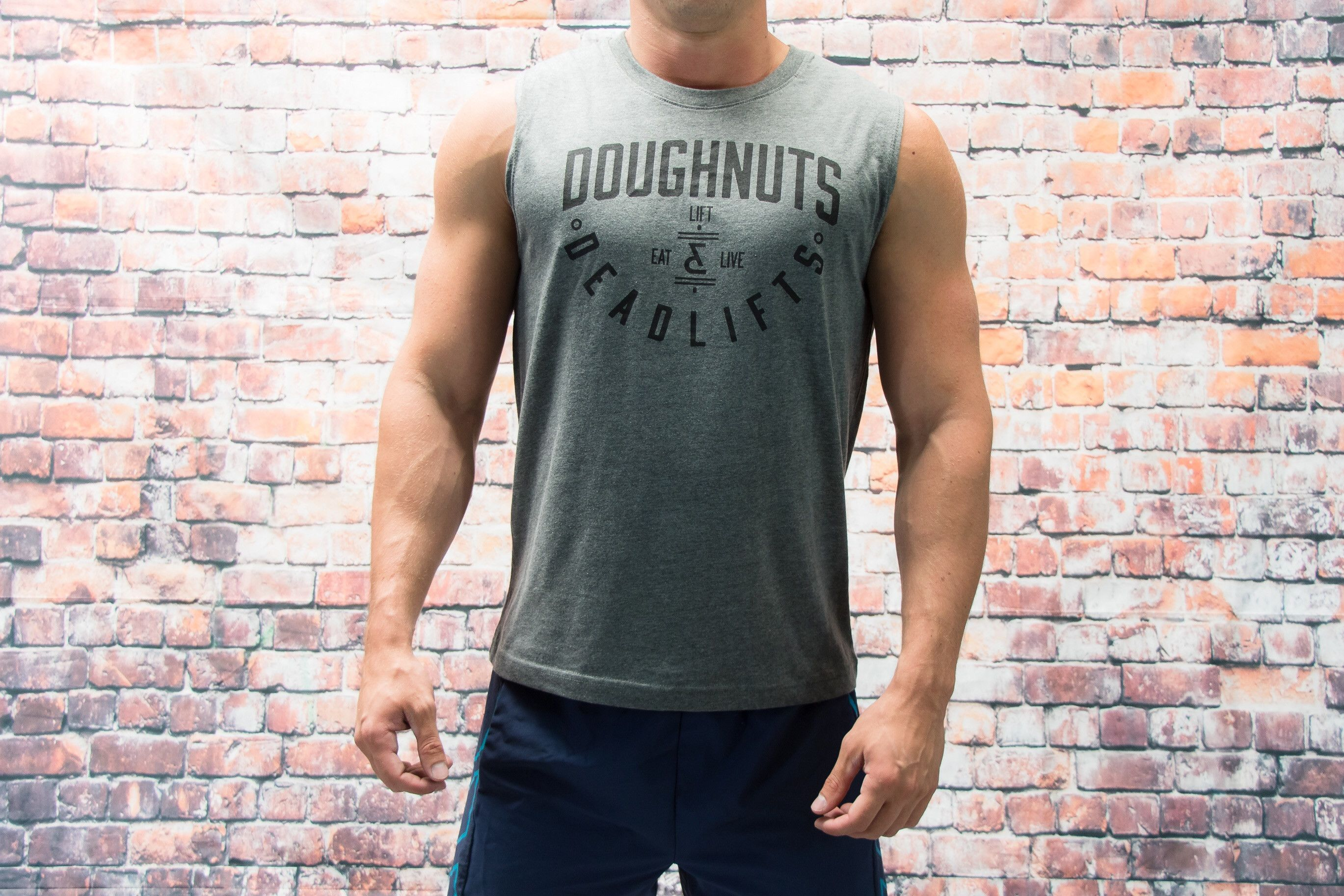 Insignia Muscle Tank in Gray