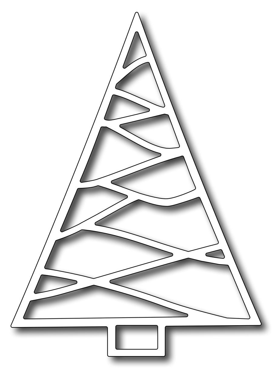 Frantic Stamper - Precision Dies - Triangle Christmas Tree | 00 ...