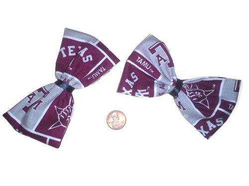 Texas A Bows, Aggies, Cheer Bows, Womens Hair bows, Football, Fabric Bows,