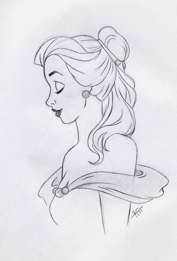 Sketch Of Belle Belle Pencil Sketch By Slamboy Sketches