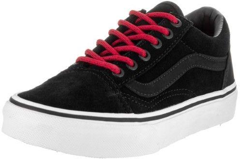 8a24ca6b658784 Vans Kids Old Skool (Suede) Black Racing Red Skate Shoe 13 Kids US ...