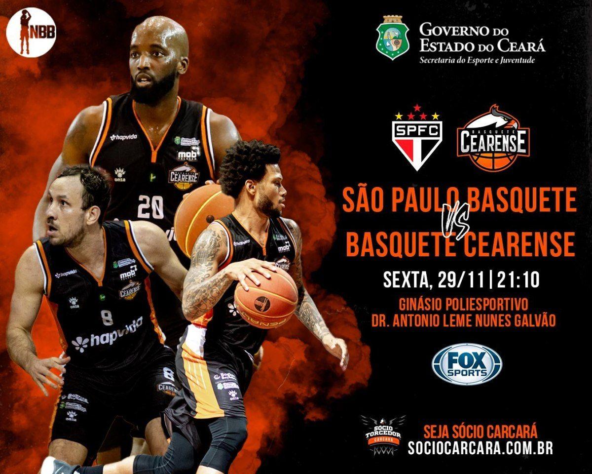 A partida entre São Paulo x Basquete Cearense será