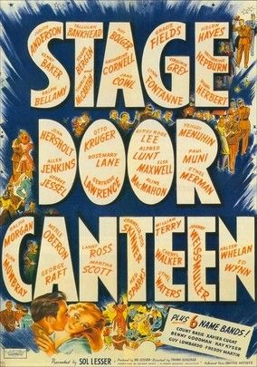 Stage Door Canteen (1943) During World War II, New York's Stage Door Canteen served as a friendly stop for off-duty soldiers. This star-studded romance tells the tale of Eileen (Cheryl Walker), a Canteen hostess who defies policy and falls for soldier Dakota Smith (William Terry). As the love affair unfolds, dozens of Hollywood's brightest stars appear as themselves, including Katharine Hepburn, Ed Wynn, Johnny Weissmuller, Ethel Merman, Harpo Marx and Gypsy Rose Lee.