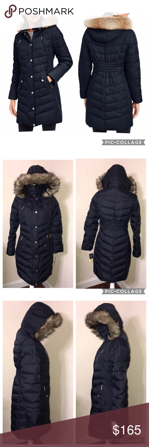 Michael Kors Faux Fur Trim Hooded Down Puffer Coat Down Puffer Coat Puffer Coat Michael Kors Jackets [ 1740 x 580 Pixel ]