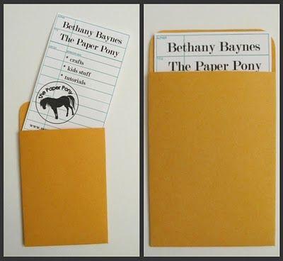 The Paper Pony Vintage Library Book Card Projects Hand make your - library card template