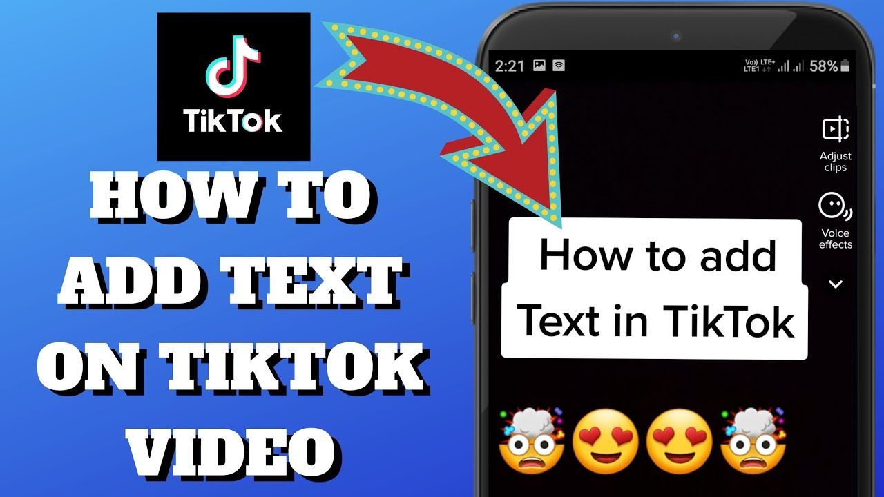 How To Add Text On Tiktok Video Add Text Ads Text