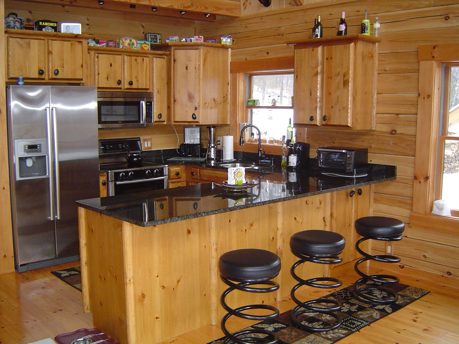 Best Rustic Log Cabins Handmade Log Kitchen Cabinets By 400 x 300