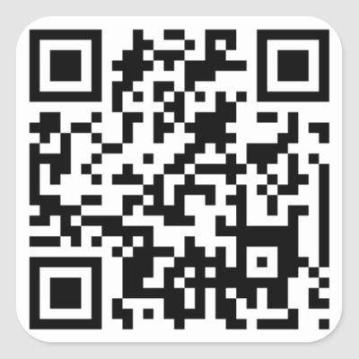 Qr Code Square Sticker Zazzle Com Coding Qr Code Create Custom Stickers