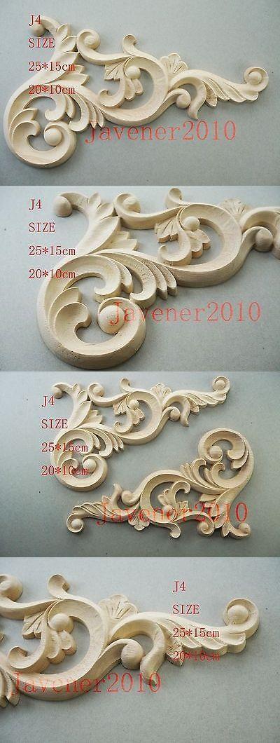 Home & Garden 20*10cm 25*15cm Wood Carving Corner Onlay Applique Frame Door Unpainted J4 Furniture