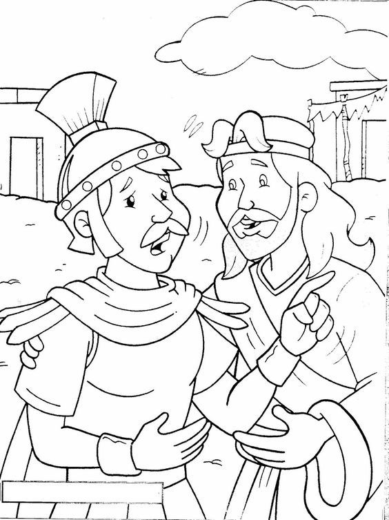 Coloring Page Centurion Sunday School Coloring Pages Bible