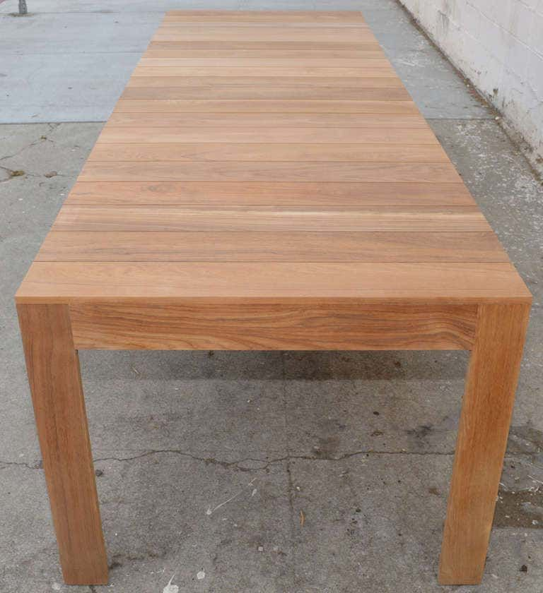 Expandable Outdoor Dining Table In Teak Custom Made By Petersen Antiques Dining Table Outdoor Dining Outdoor Dining Table