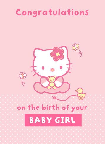 Congratulations Baby Girl Card Printable | www.pixshark ...