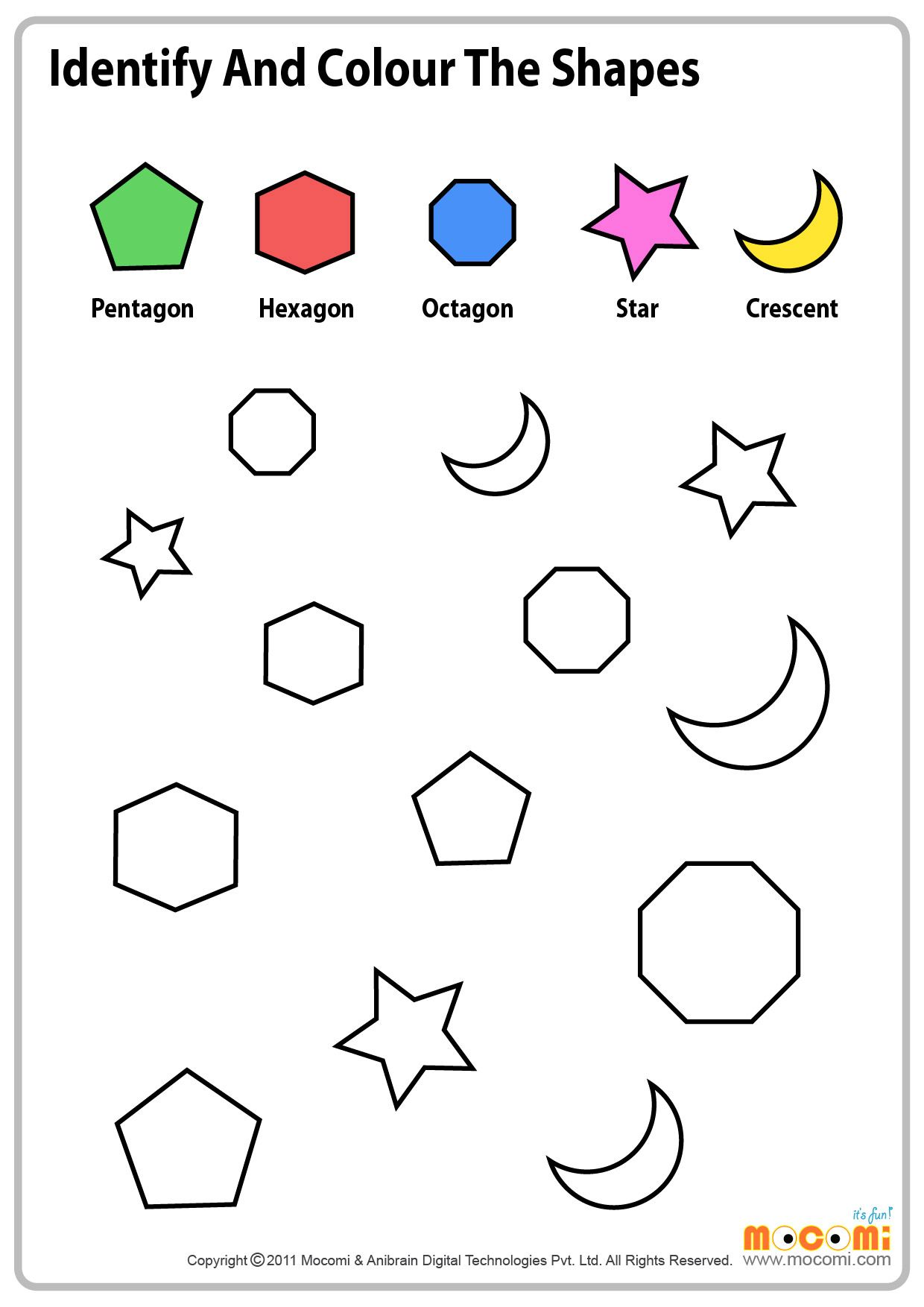 1st Grade Shapes Worksheets To Free Download 1st Grade