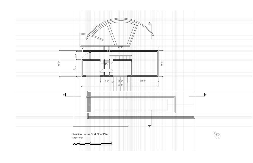 Koshino House First Floor Plan nli nha o Pinterest – Koshino House Floor Plan