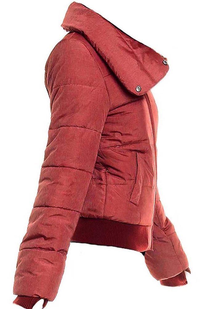 Fresh Made Damen  Jacke Steppjacke   Rot Neu Gr. 40