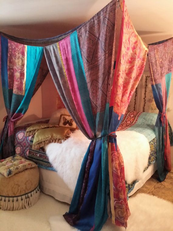 Custom Bed Canopy MADE TO ORDER Gypsy Hippie Hippy by HippieWild & Custom Bed Canopy MADE TO ORDER Gypsy Hippie Hippy by HippieWild ...