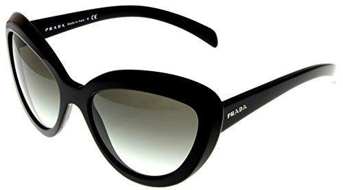 f9cef3ff70215 Prada Sunglasses Women Black Cateye PR08RS 1AB0A7 Prada http   www.amazon.