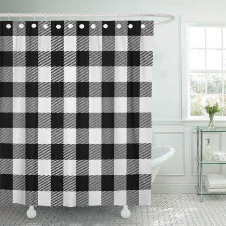 Home Black Shower Curtains White Shower Plaid Shower Curtain