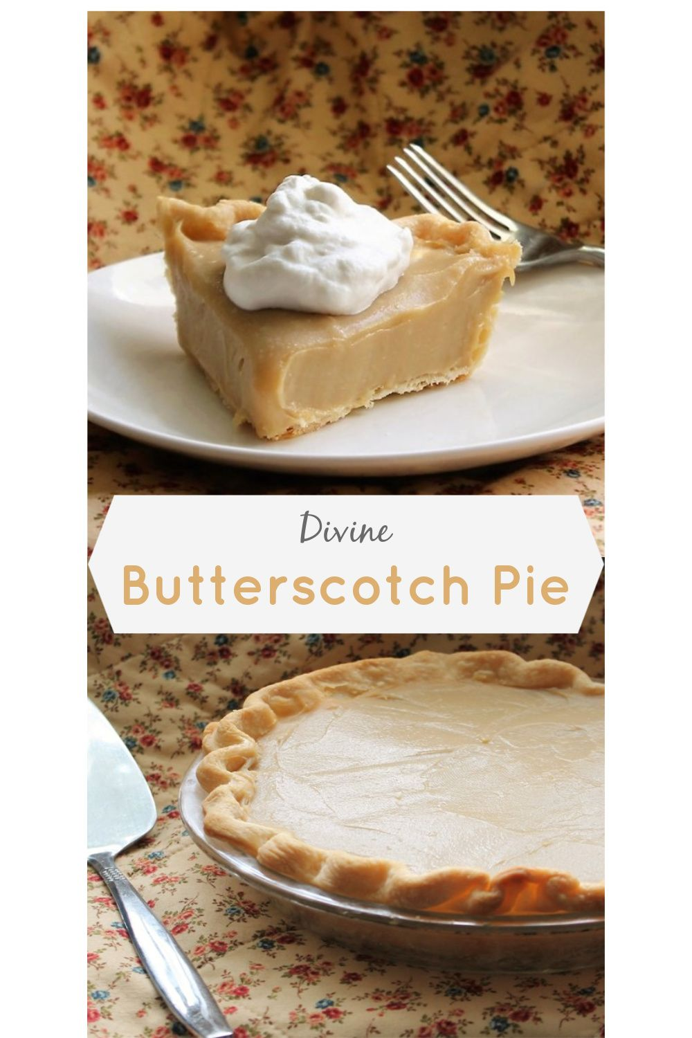 Divine Butterscotch Pie #easypierecipes