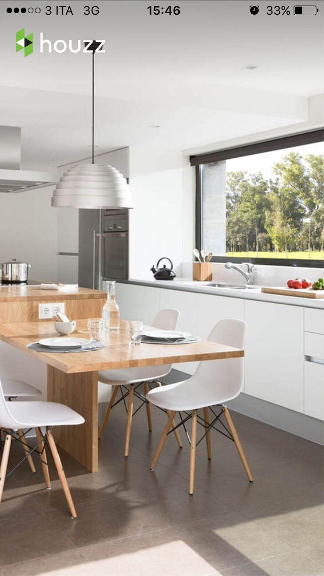 Tavolo Bancone Cucina.Cucina Con Bancone E Tavolo Cucine Moderne Cucine Piccole