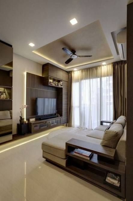 False Ceiling Designs For Small Rooms: 34 Ideas For Living Room Small Corner Bedrooms #livingroom