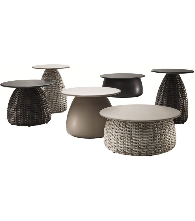 Porcini Dedon Side Table Coffee Table Furniture Small Garden Table