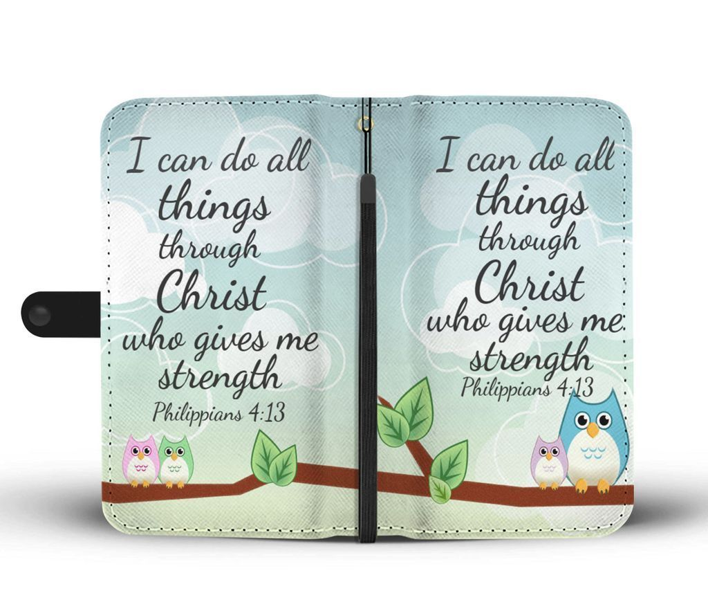 Scripture Quotes Wallet Phone Cases I Can Do All Things Through