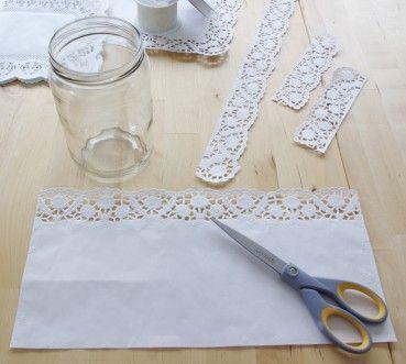 Hochzeits Special Windlichter Kerzen Deko Glas Spitze Diy Anleitung