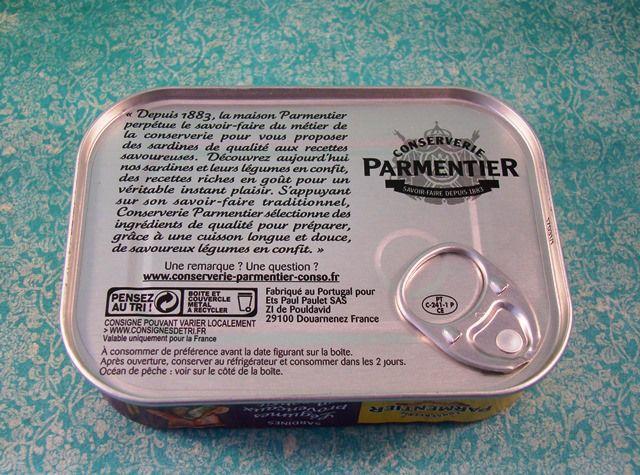 """Parmentier / Sardines - Légumes provençaux en confit - Can you find """"Fabriqué au Portugal""""?"""