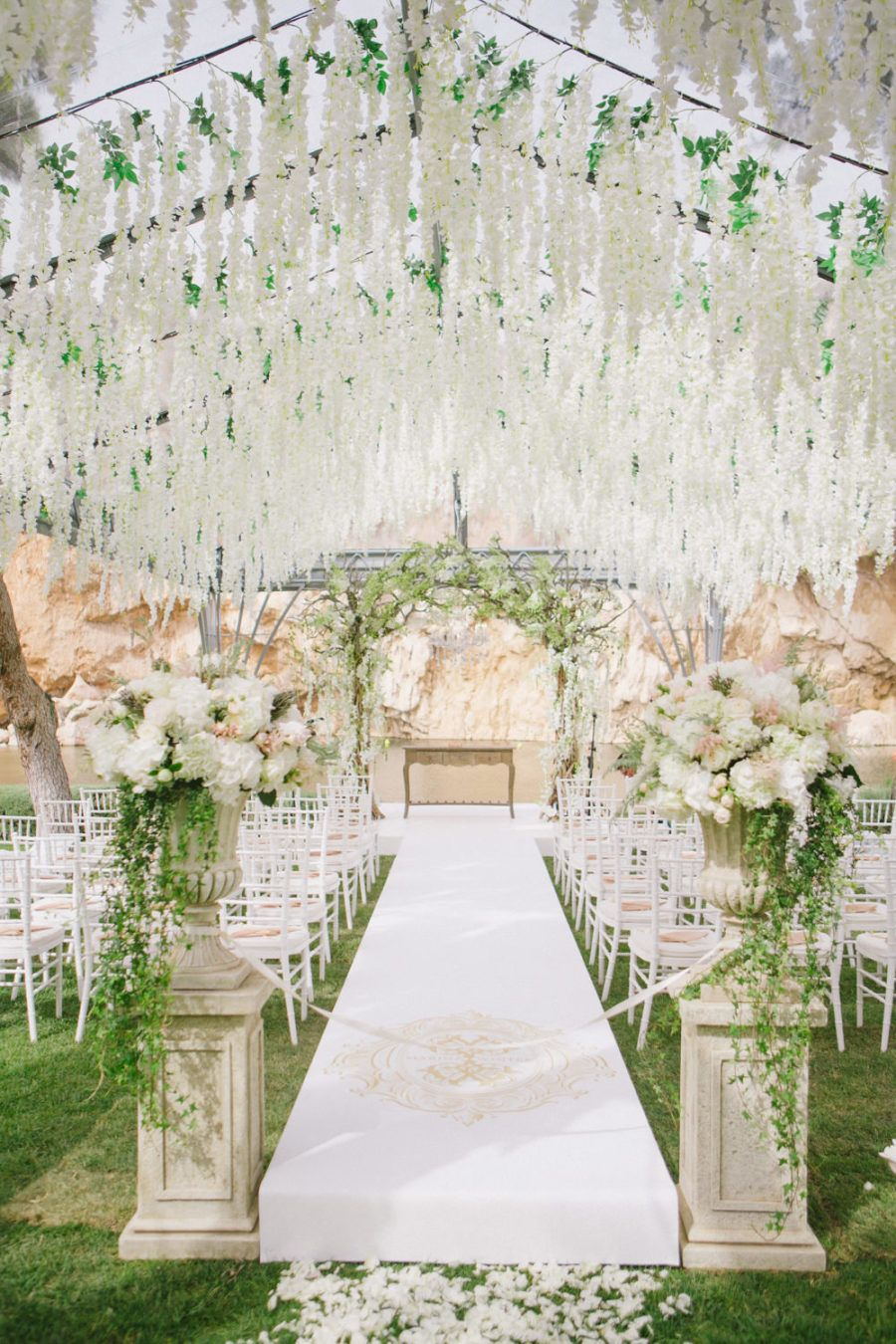 This Greek Wedding Is Total Floral Goals Greek Wedding Luxury