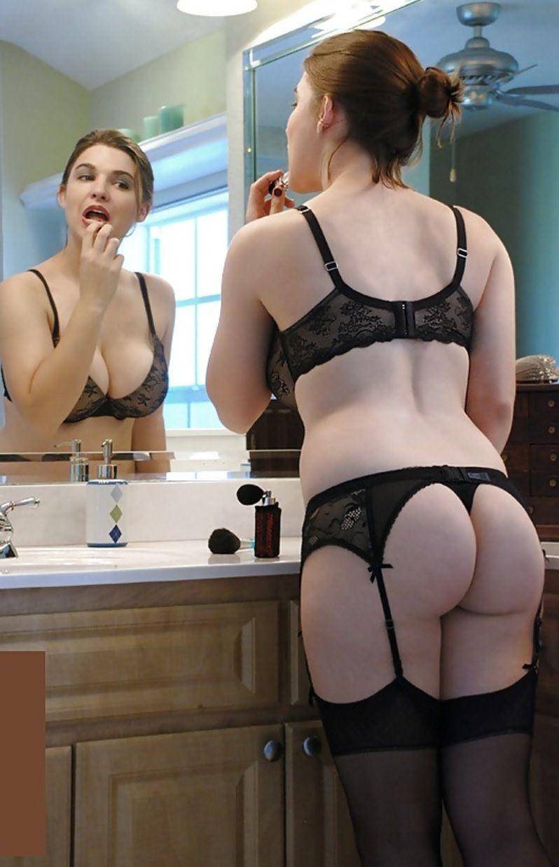 Big black pantie tit