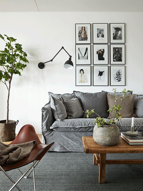 Fantastisk Grå soffa, mörk matta | HOUSE | Inredning, Inredning vardagsrum AU-27