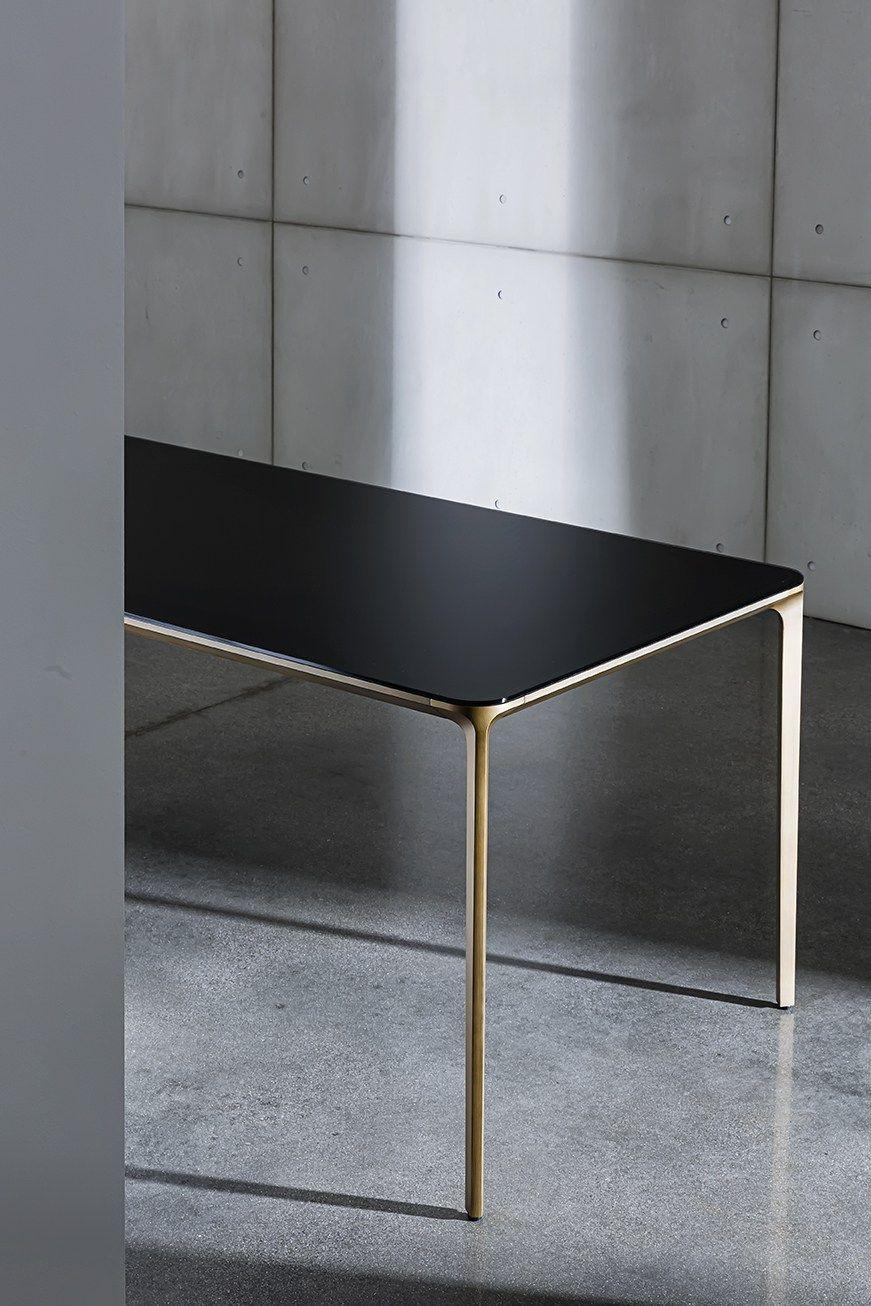 Rectangular Glass And Aluminium Table Slim Rectangular Sovet